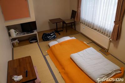 Kamar Aozora Inn lumayan besar untuk penginapan ala Jepang