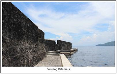 Benteng kalamata yang berada di dekat laut