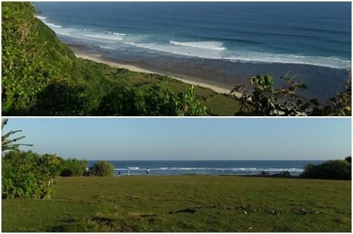 Letak Pantai Nyang Nyang Beach itu Jauuuuuh dibawah, tapi pemandangan seperti ini sangat menggoda :D