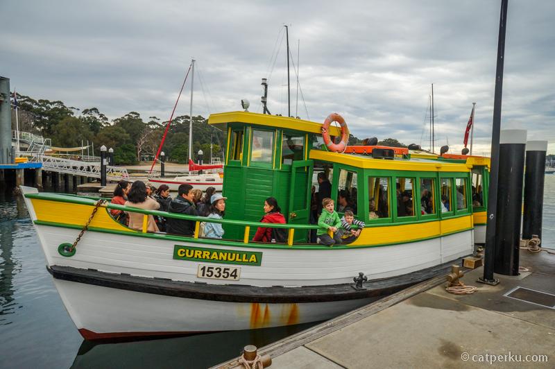 Ferry yang mengantarkan saya ke Bundeena