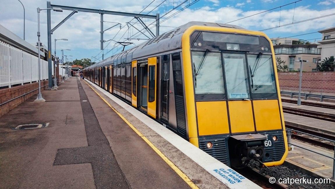 Ini kereta yang selalu bisa diandalkan ketika lagi jalan-jalan di Sydney