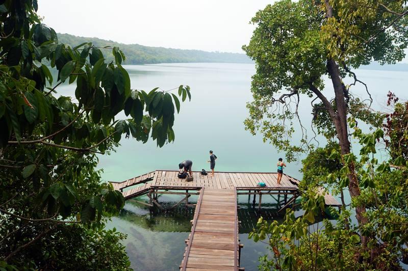 Seperti inilah dermaga Danau Kakaban.
