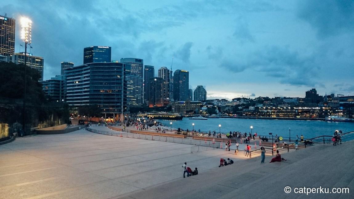 Menjelang senja di Opera House Sydney