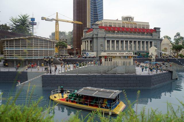 Miniatur Singapore dalam lego.