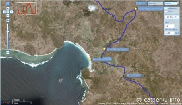 Peta Menuju Pantai Selong Belanak Beach.