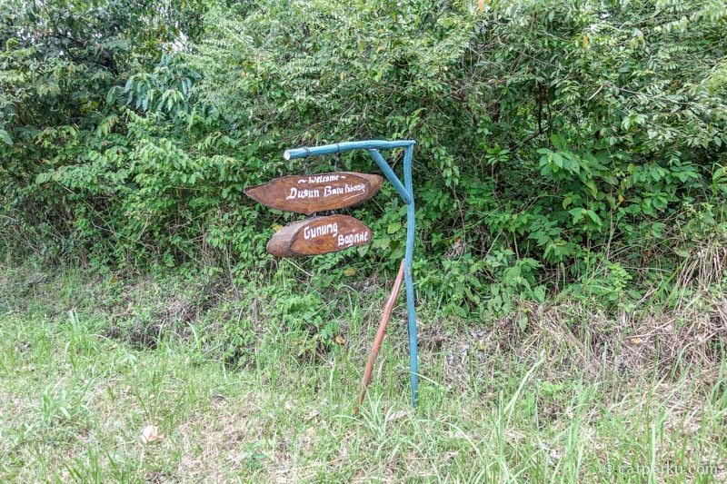 Petunjuk pertama untuk menuju lokasi Bukit Batu Baginda