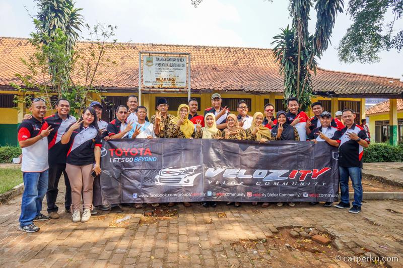 Selain jalan-jalan, CSR juga di SDN Lambang Jaya 02 Bekasi
