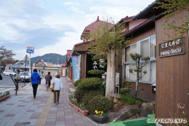 Stasiun kereta api Shinano Omachi untuk pulang ke Tokyo melalui Matsumoto