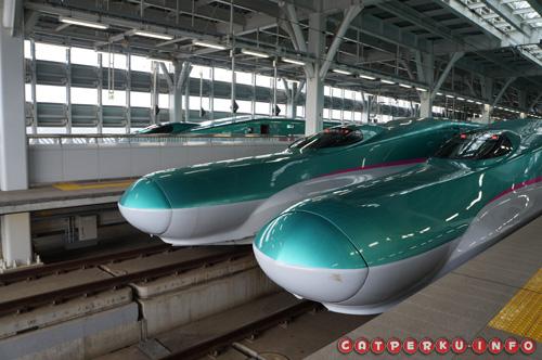 Si kece Shinkansen Hayate yang sedang tidak beroperasi