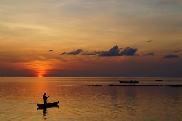Sunset menawan di Pulau Tomia