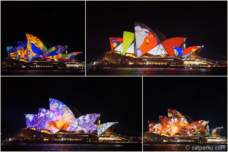 Sydney opera house yang tidak monoton lagi karena Vivid Sydney