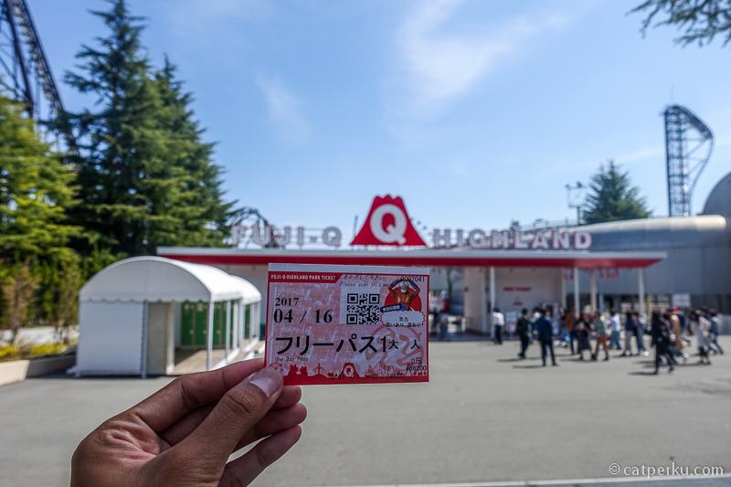 Tiket one day pass di Fuji-Q Highland