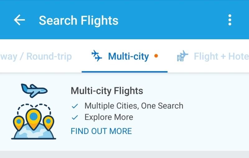 Tingal pilih tab Mult-City
