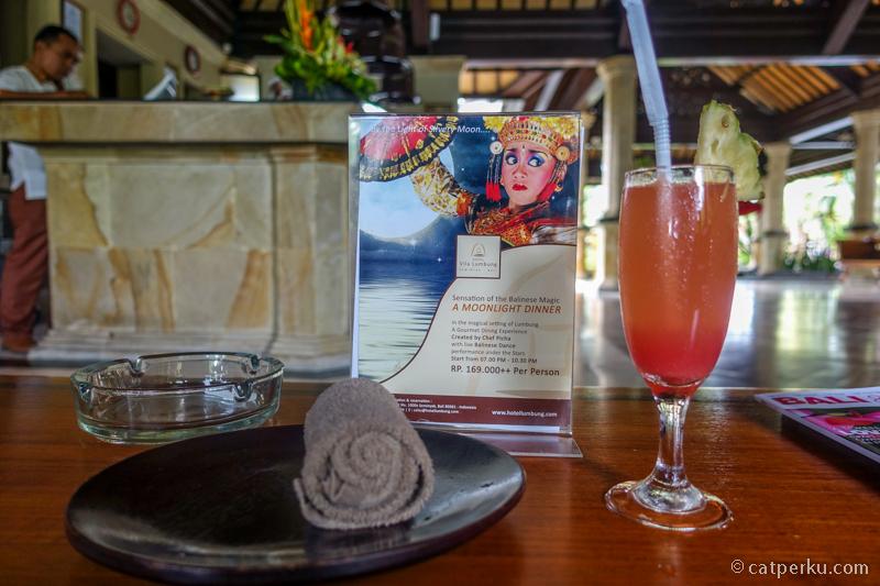 Welcome drink untuk mengurangi dahaga di panasnya udara Bali