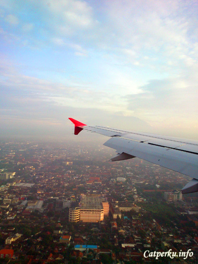 Pemandangan Kota Yogyakarta dari ketinggian