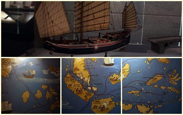 Ada peta kuno pelayaran yang didalamnya ada Indonesia di Museum Of Macau.
