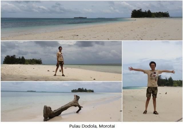 Saya di Pulau Dodola, Morotai.