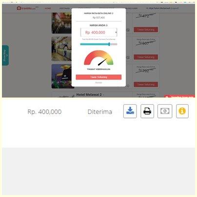 Proses menawar berhasil, notifikasi di dashboard dan voucher akan dikirim ke email.