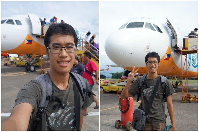 Selfie atau V-Sign dengan A320 nya Cebu Pasifik, pilih mana? Yang manapun yang penting sudah sampe di Puerto Princessa ^^