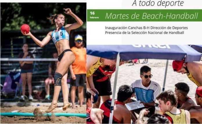 Catriel: Inauguran canchas de Beach Handball con figuras nacionales
