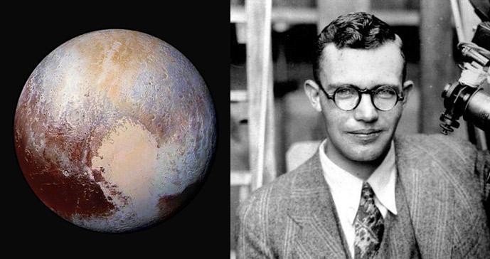 Tombaugh (derecha) murió en 1997. En 2006, una onza de sus cenizas fue enviada al espacio en la misión New Horizons, junto a una sonda que rastreó este planeta por primera vez en la historia, alcanzándolo el 14 de julio de 2015 (izquierda).