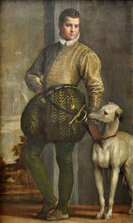 'Muchacho con su galgo', c. 1570, por Paolo Veronese.