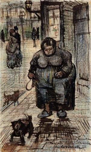 'Mujer paseando a su perro', 1886, por Vincent van Gogh.