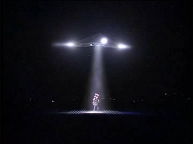 Este tipo de nave triangular incluso apareció en la serie X-Files.