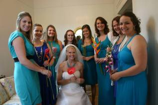 This beautiful bridal party each held a flower that complimented their Img.ID
