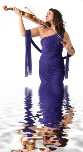 Violinist in Violaceous