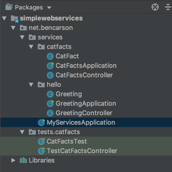 Proper application hierarchy for Spring Boot