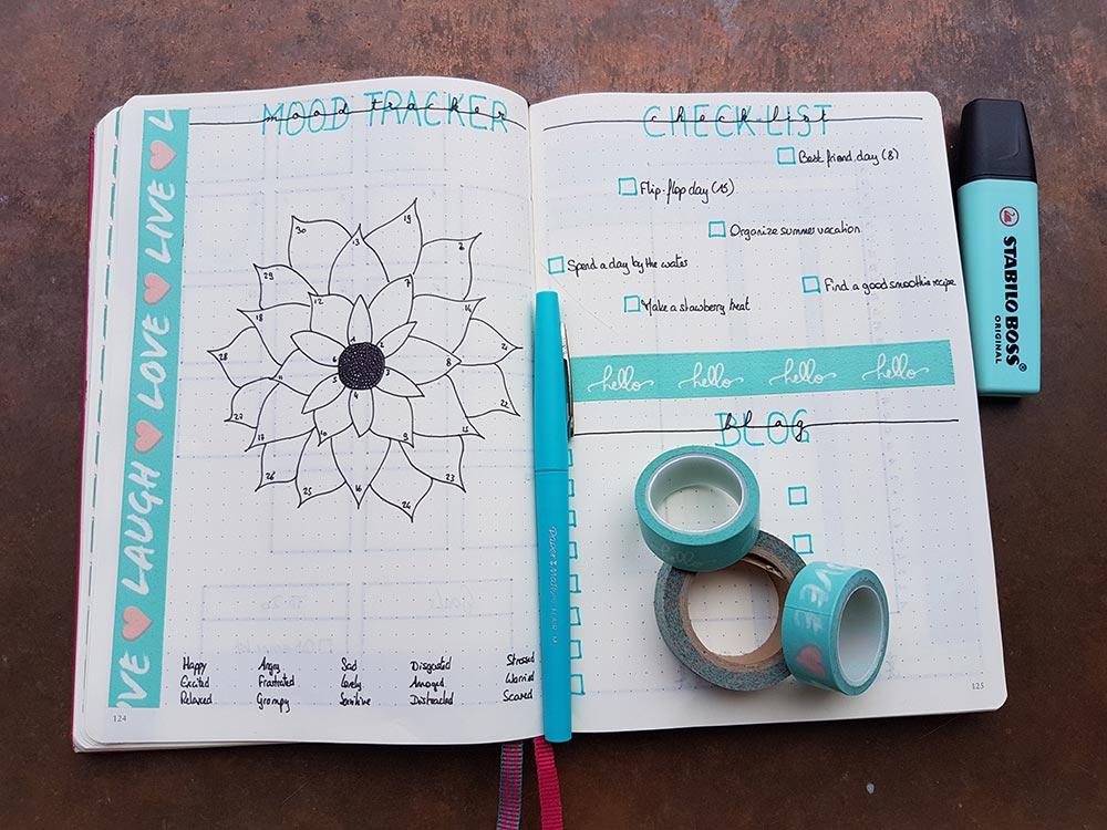 Bullet Journal - Mon système pour le mois de Juin