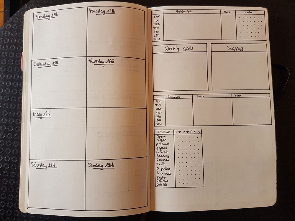 Weekly pages - Pages hebdomadaires