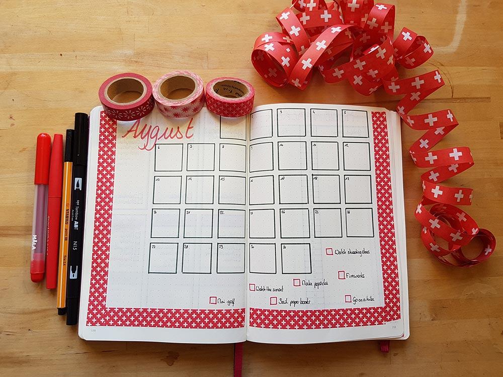 Bullet Journal - Mon système pour le mois d'Août