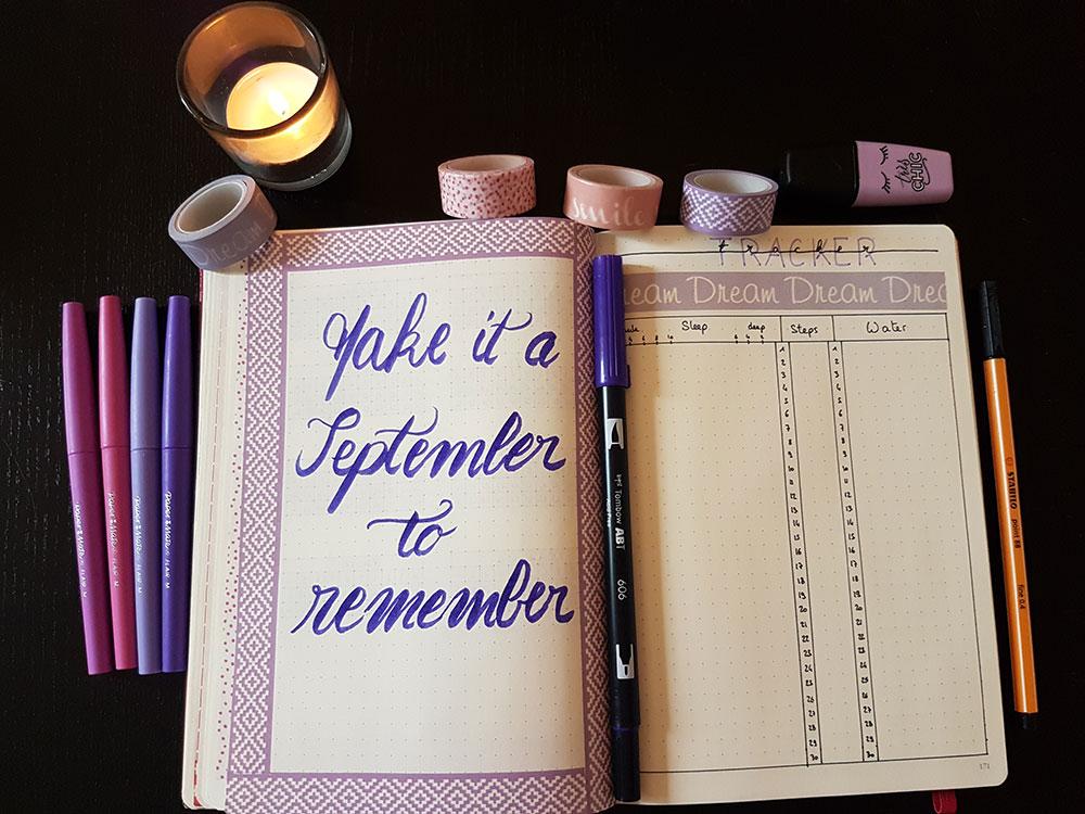 Bullet Journal - Mon système pour le mois de Septembre