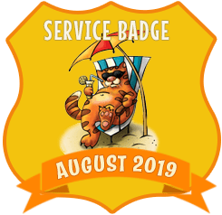 Service Badge: August 2019