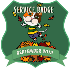 Service Badge: September 2019