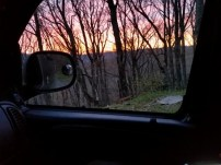 Sunset from Miss Janet's van.