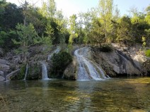 Waterfall and swimming hole.