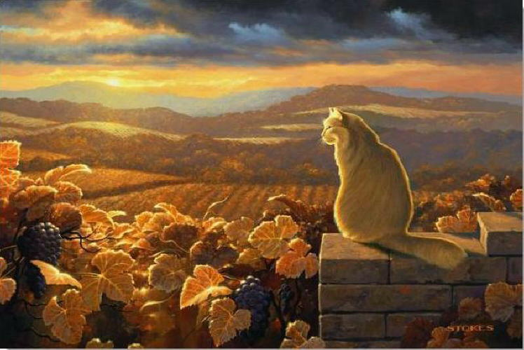 Image result for Paintings of Kitties in the Fall