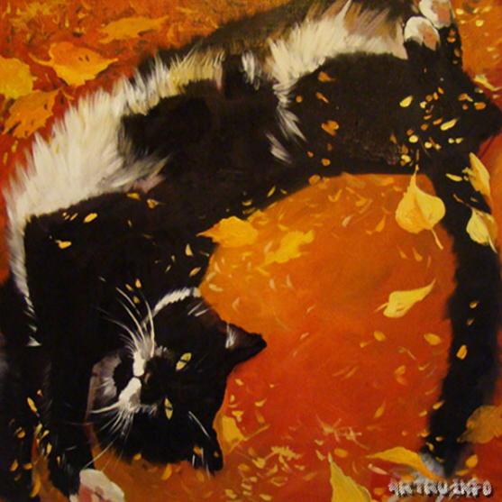 Viktoriya Chizhova - Autumn Cat with a Spring Mood