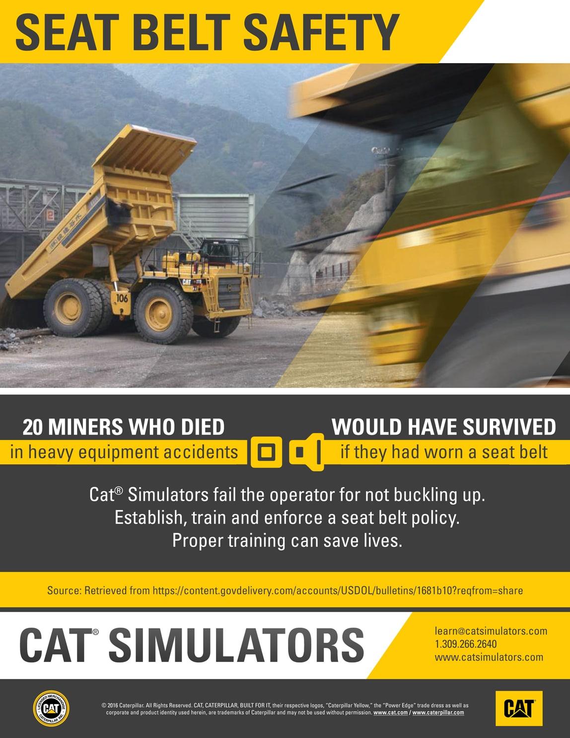 Seat Belts Save Heavy Equipment Operator Lives Cat