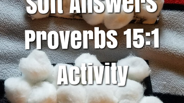 A Soft Answer & Activity:  Proverbs 15:1