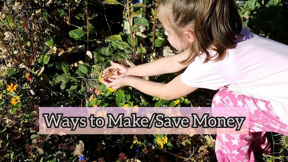Ways to make/save money