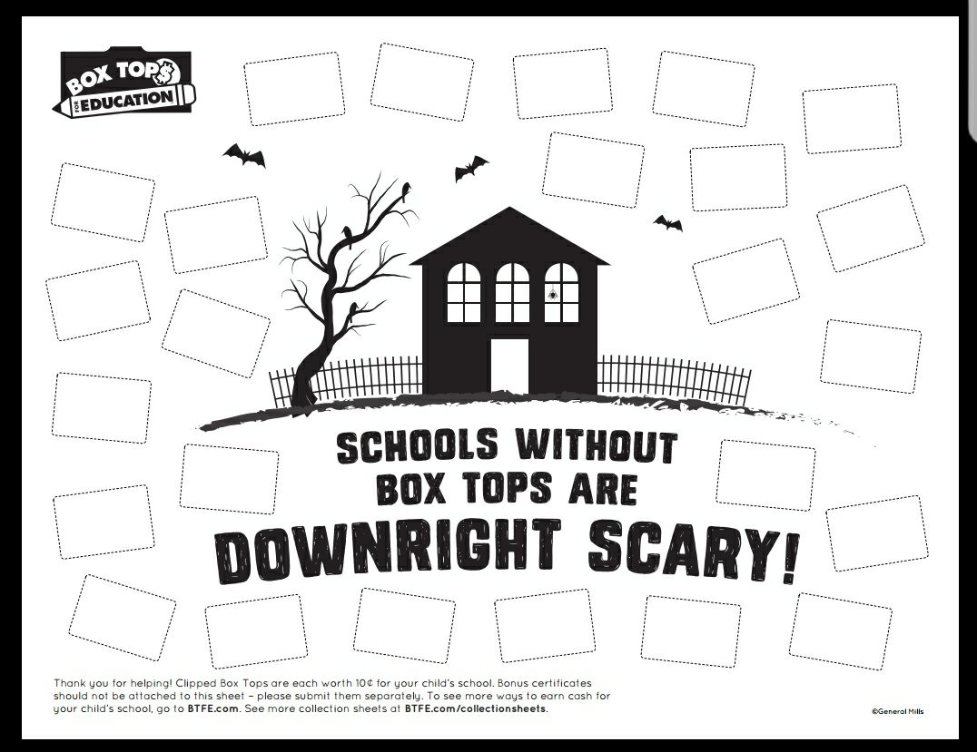 Do You Collect Box Tops In Your House My Daughters Love Collecting Them And They Really Enjoy Using The Websites Collection Sheets