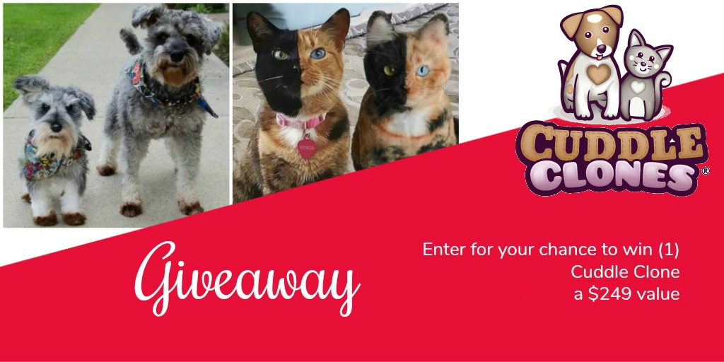 Enter to Win Cuddle Clones Giveaway