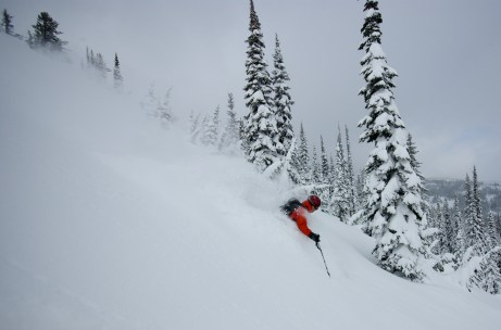 Finding your line @ FWA (Fernie Wilderness Adventures) Catskiing