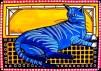 Cat Art Blue Tabby by Dora Hathazi Mendes