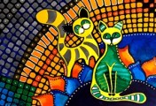 Cheer Up My Friend Cat Art by Dora Hathazi Mendes