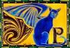 Winged Feline Cat Art by Dora Hathazi Mendes